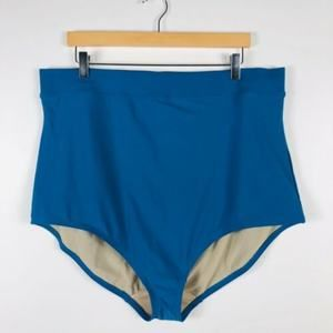 Cacique Lane Bryant Size 28 Turquoise Swim Bottoms